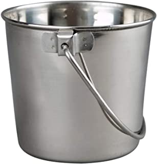 Advance Pet Products Heavy Stainless Steel Round Bucket, 1-Quart
