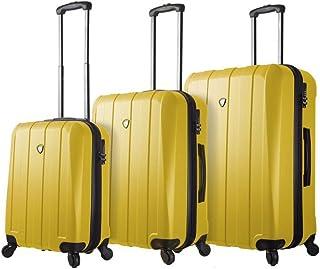 مجموعة حقائب السفر الدوارة المصنوعة من 3 قطع من ميا تورو، لون ذهبي