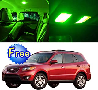 SCITOO LED Interior Lights 9pcs Green Package Kit Accessories Replacement for 2013-2015 Hyundai Santa Fe YF1W