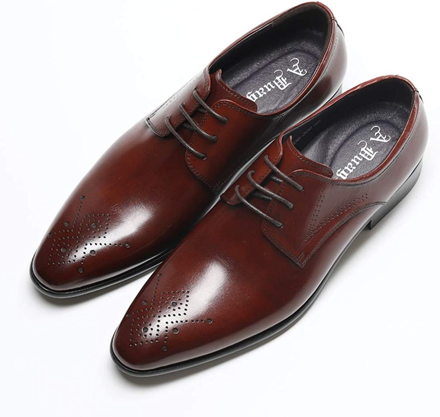 Men's Business Leather shoes Men Comfortable Classic Modern Dress shoes Men Pointed Retro shoes