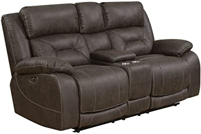 Pleasing Amazon Com Homelegance Greeley Reclining Sofa Top Grain Download Free Architecture Designs Scobabritishbridgeorg
