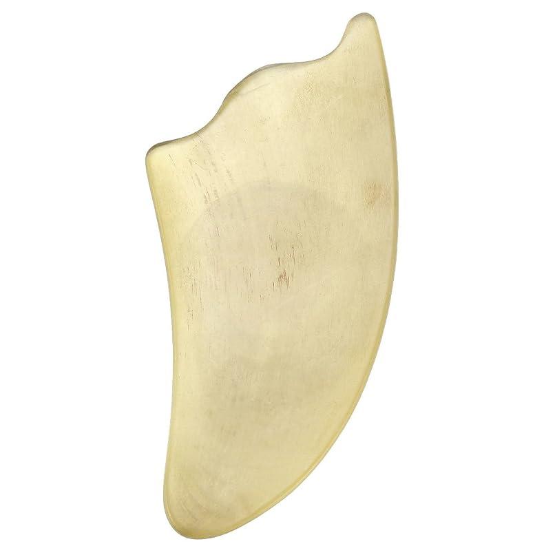 平野豚入口Jovivi Mak カッサリフトプレート 黄色 牛角 パワーストーン カッサ板 美顔 カッサボード カッサマッサージ道具 ギフトバッグを提供 (三角形)
