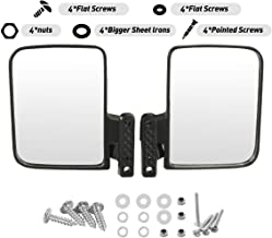 WPCUS Golf Cart Mirror, 180 Degree Rear View Mirror and Adjustable Side Mirrors Universal Fit for Club Car, Ezgo, Yamaha, Star