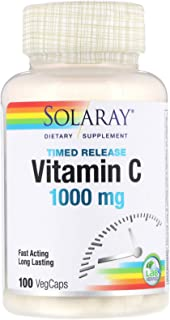 Solaray, Timed Release Vitamin C, 1,000 mg, 100 VegCaps
