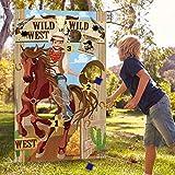 Giochi di Lancio del Cowboy Del Partito Occidentale con 3 Sacchi di Fagioli, Divertente Gi...