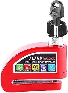 Alarming brake lock alarm system, anti-theft bicycle bicycle brake lock disc security(Red)