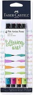 Faber-Castell Pitt Artist Pens - Brush Lettering - 4 Bright Colors