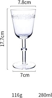 European Retro Laser Carving Lead free glass wine glass champagne glasses Red wine glass goblet home wedding party Drinkware,A