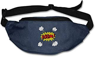 Teesofun Unisex Waist Purse Cool Comic Boom Explosion Fanny Pack Waist/Bum Bag Adjustable Belt Money Holder Running Sport Waist Bag