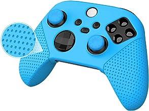 Capa de silicone para controle Xbox, série X/S, película de borracha para Xbox Series X/S controlador com alças de polegar...