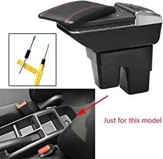 8X-SPEED for Honda Fit Jazz 2014-2018 Car Armrest Center Console Accessories Arm Rest Black