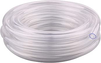 Clear Vinyl Tubing - 3/8'' ID 1/2'' OD PVC Tube Food Grade Flexible Plastic Pipe Hose for Homebrewing, Siphon Pump 10 Meters(32.8ft) Length