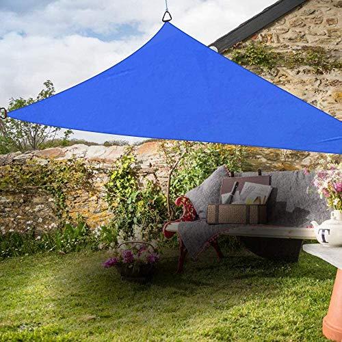 Toldo Vela Rectangular Triángulo Anti-UV Parasol Vela Partido Patio al Aire Libre de protección Solar del pabellón Sunsail 2x2x2m Terracota, Tamaño Nombre: 5x5x5 m, Nombre de Color: Naranja