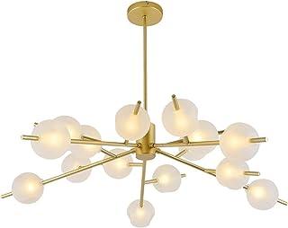 LED Chandelier Lights Black/Gold Mamame Art Luxury Home Lamp for Living Room Bedroom Study Dining Room LiWen Zheng (Emitti...