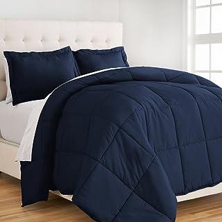 Ivy Union Comforter Set - Easy Care Super Soft Microfiber - Twin/Twin XL Size Bedding - Hypoallergenic (Twin/Twin XL, Dark Blue)
