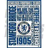 Chelsea FC A3 Wort Poster/Druck/Wandkunst, offizielles
