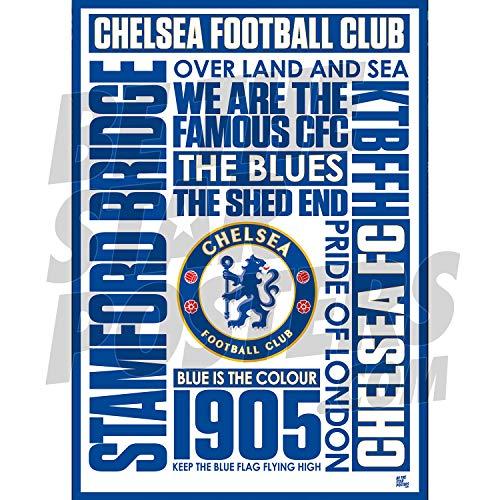 Chelsea FC - Poster A3, stampa da parete, formato A3, prodotto con licenza ufficiale, disponibile in misure A3 e A2 (A3)