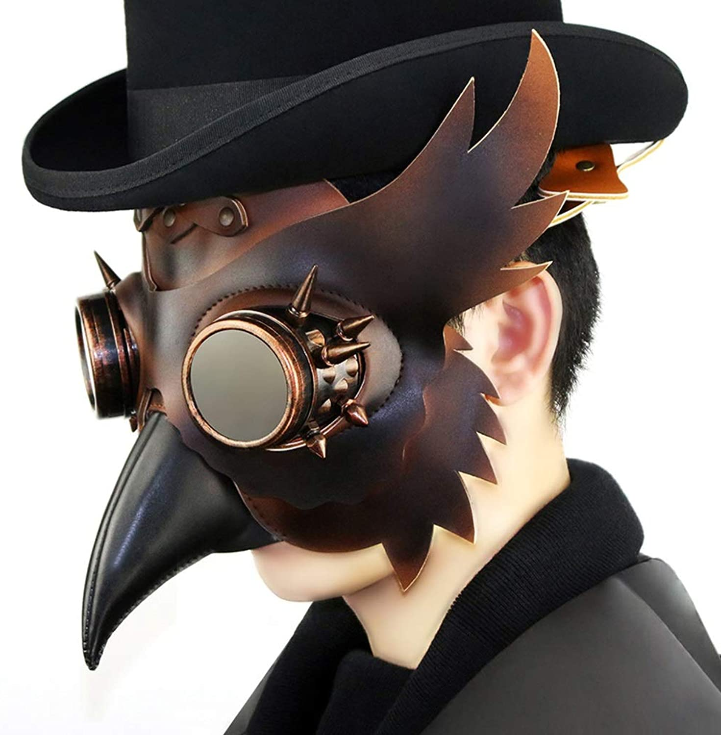 Taotao Tao Steampunk Plague Beak Mask Halloween Bar Apoyos Apoyos Apoyos Regalo  descuento de ventas