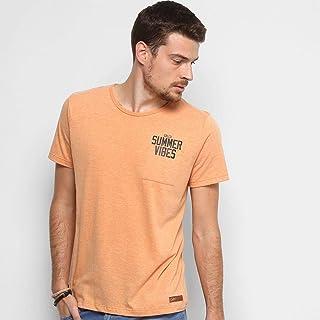 Camiseta Colcci Summer Vibes com Bolso Masculina