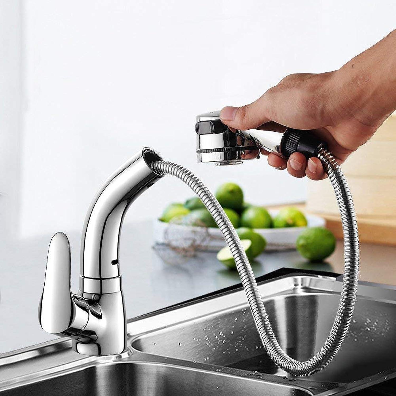 ZTMN Küche ziehen typ der Wasserhahn Messing hauptteil gedreht Werden kann Heben teleskop Wasserhahn umweltfreundlich bleifrei