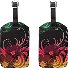 Luggage Tags Hippie Flower Best Mens Tag Holder Kids Bag Labels Traveling Accessories 2 Piece