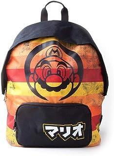 Distressed Striped Backpack, Mochila Super Mario Retro, Unisex Adulto, Multicolor (Multicolour), 3x41x31 cm (W x H x L)