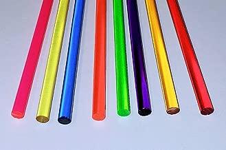 "13"" Long Clear Acrylic Plexiglass Lucite Plastic Rod US Stock 9pcs 5mm Dia"