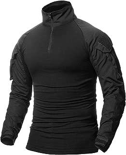 Men's Tactical Combat Shirt, Long Sleeve Camo Airsoft Army Military T Shirt