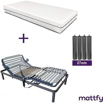 MATTFY Pack Cama ARTICULADA Reforzada 5 Planos + COLCHÓN ...