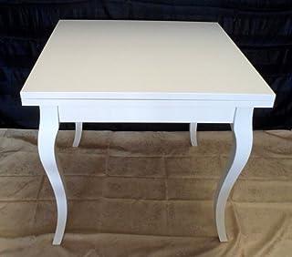 Legno&Design Mesa Cuadrada Extensible Blanco Lacado
