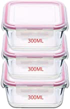 Kaiserhoff Flexi Kitchen Square Glass Storage Container Set, 300ml, Set of 3