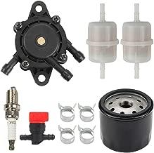 Yermax 16700-Z0J-003 Fuel Pump with Fuel Oil Filter Spark Plug for Honda GX610 GX620 GX670 GXV610 GXV620 GXV670 Engine