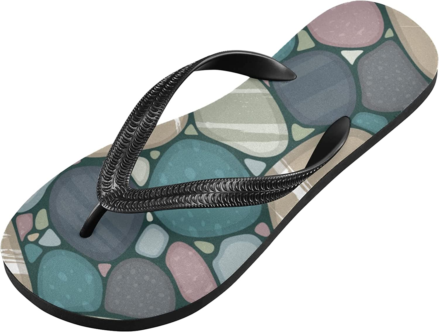xigua Multi-Colored Stones Recommendation Flip Light-Weight Flops Non-slip Comf We OFFer at cheap prices