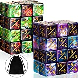 48 Pieces Dice Counters Token Dice D6 Dice Cube Loyalty Dice with 2 Storage Bags Compatible with MTG, CCG, Card Gaming Accessory, 4 Styles