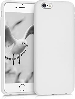 kwmobile TPU Silicone Case for Apple iPhone 6 / 6S - Soft Flexible Shock Absorbent Protective Phone Cover - Light Grey Matte