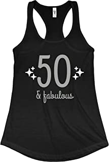 Fifty and Fabulous: Ladies Slim Fit Racerback Tank Top