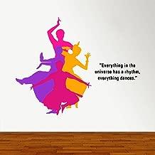 Rawpockets 'Indian Classic Dance Bharathanatyam' Wall Sticker (PVC Vinyl, 0.99 cm x 115 cm x 90 cm)