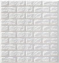 Adesivo autoadesivo realista 3D painel de tijolos 3D BESPORTBLE, adesivo de parede para sala de estar, TV, paredes e casa