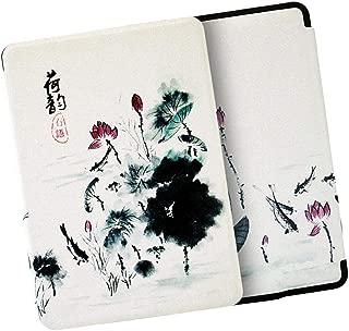全3種 保護ケース Kindle Paperwhite 4用 電子書籍リーダーカバー 人工皮革 薄型 - 蓮