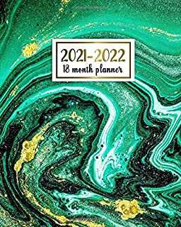 2021-2022 18 Month Planner: Mesmerizing Weekly Planner, Organizer with Vision Boards, To Do Lists, Notes, Holidays | Styli...