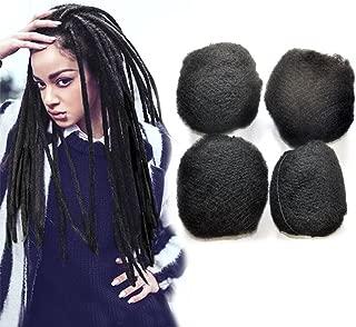 Yonna Hair 4pcs/lot Tight Afro Kinky Bulk Hair 100% Human Hair For DreadLocks,Twist Braids Off Black #1B,8