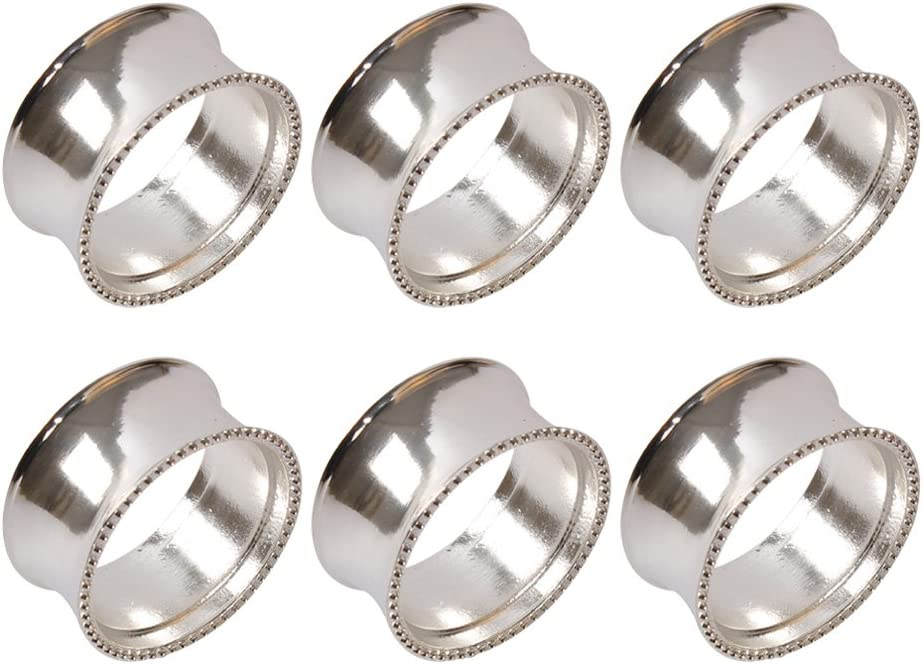Frjjthchy 6 Pcs Stainless Steel Napkin Side Delicate Bead online shopping Rings OFFicial shop