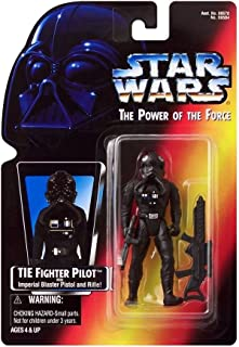 Star Wars Power of the Force Tie Fighter Pilot Action Figure with Imperial Issue Blaster Pistol