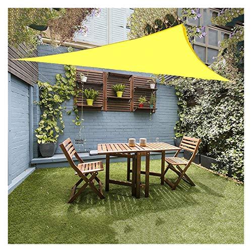 ZXD Vela De Sombra De Sol Resistente Al Agua Proteccion Solar Triángulo 160GSM HDPE Toldos para Sombrillas para Jardín Al Aire Libre Instalaciones Y Actividades (Color : Yellow, Size : 2.4x2.4x2.4m)