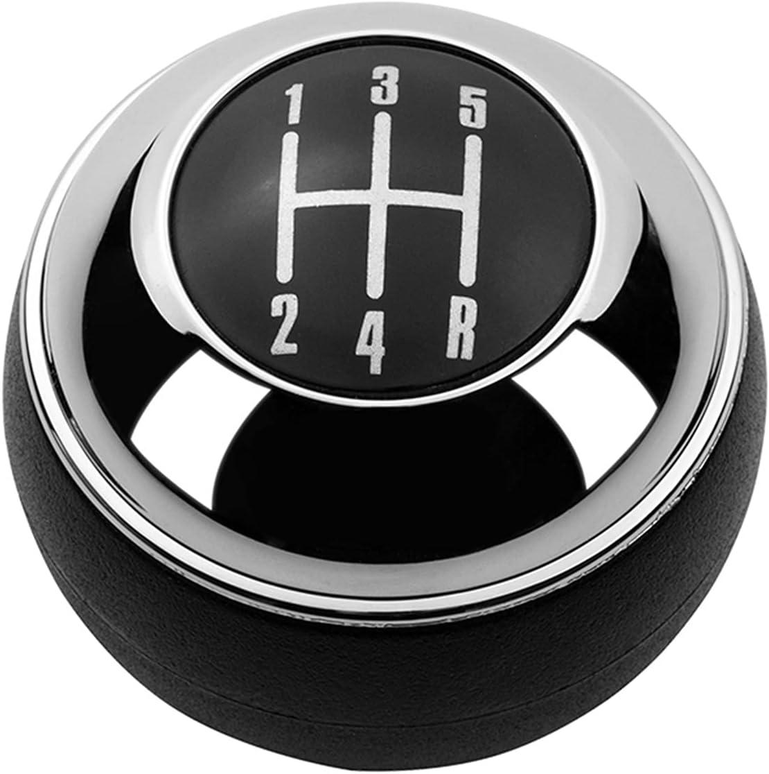 Meas 5/6 velocidades cromadas Engranaje Negro Mando de Cambio Palanca de Palanca de Palanca de Palanca para Mini r50 uno D R52 R53 Cooper S 3 Puertas 2001 2002 2003-2008 (Color Name : Black 5 Speed)