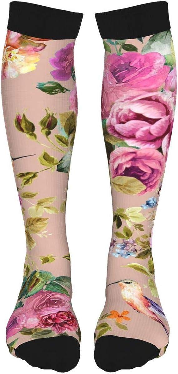Yellow Sunflower High Thigh Socks Long Stocking Knee High Leg Warmer For Girls/Women