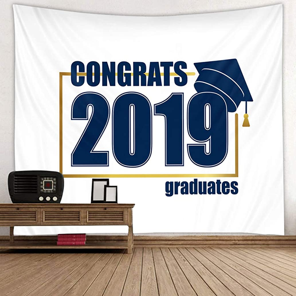 DPIST 2019 Graduation Backdrop Banner Party Decorations Supplies-Grad Congratulate Photo Booth Wall Party Decor-Also Can Be Used As Tapestry Home Wall Decoration
