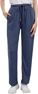 Zexxxy Women Pajama Bottoms with Pockets Comfy Casual Cotton Drawstring Lounge Pants S-XXL