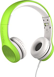 New! LilGadgets Connect+ Style Kids Premium Volume Limited Wired Headphones with SharePort (Children, Toddlers) - Green