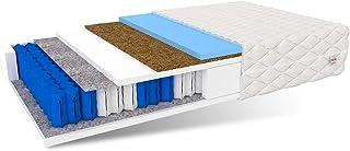 FDM RODOS-Colchón (160 x 200 cm, 7 Zonas, núcleo de muelles ensacados, dureza H2/H3, Espuma de Poliuretano, 22 cm de Alto), Coco